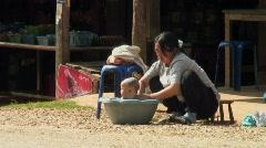 Hmong Bath Time 1 Stock Footage