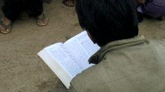 Hmong Bible Reading 1 Stock Footage