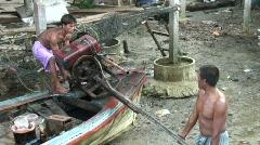 Moken Boat Engine 3 Stock Footage