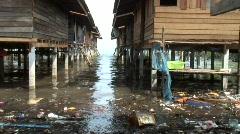 Moken Houses, Koh Lao, Thailand Stock Footage