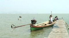 Moken Long Tail Boat Stock Footage