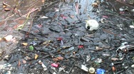 Moken Village Trash Stock Footage