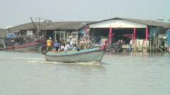 Ranong Fishing Boats Stock Footage