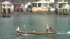 Ranong Harbour Long Tail Boat Stock Footage