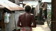 Sea gypsy Slum - stock footage