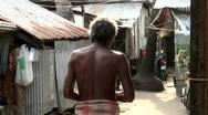 Sea gypsy Slum Stock Footage