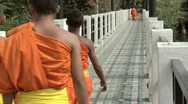 Slow Motion Monks Stock Footage