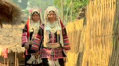 Two Akha Women Stock Footage