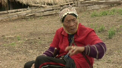 Unhappy Akha Woman Stock Footage