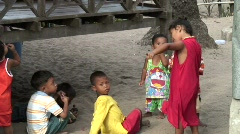 Urak Lawoi Children - stock footage