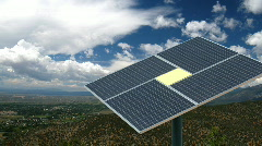Solar Panel Taos Valley HD1920 Stock Footage