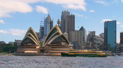 Sydney City Harbour with Ferry & Opera House PT25 Stock Footage
