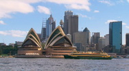 Stock Video Footage of Sydney City Harbour with Ferry & Opera House PT25