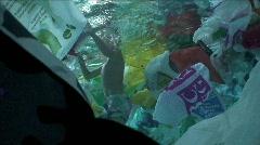Plastic bags underwater 2 Stock Footage