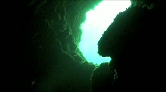 Cave Underwater 4 Stock Footage