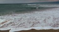 Stock Video Footage of Sandy Beach Time Lapse