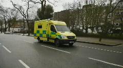 HD1080p Emergency ambulance in London Stock Footage