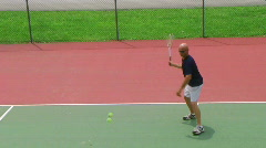 Tennis Player Volleys 02 Stock Footage