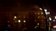 Lamp in winter night with snow Stock Footage
