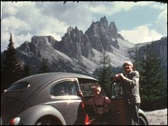 Trip to Dolomites, Italy (vintage 8 mm amateur film) Stock Footage