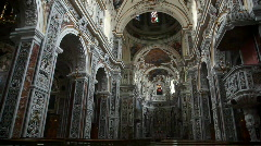 Sequence of Chiesa del Gesù, church in Palermo - stock footage