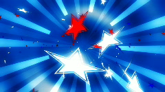 Stock Video Footage of Stars and Stripes 3D Looping Background