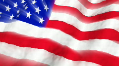 American Flag with Light Rays Looping Background Stock Footage