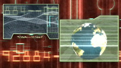 Science Fiction Screens Looping Background Stock Footage