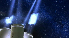 Searchlights Under Stars - stock footage