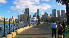 Sydney City & Harbour with Ferry & Opera House PT27 Stock Footage