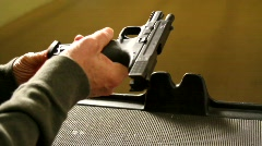 Loading Semi Automatic Pistol - stock footage