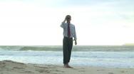 Stock Video Footage of Businessman searching with binoculars