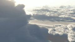 (1153) Dramatic High Altitude Clouds Aerial Heaven Flight LOOP Stock Footage