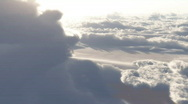 Stock Video Footage of (1153) Dramatic High Altitude Clouds Aerial Heaven Flight LOOP