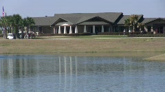 Clubhouse and Lake Stock Footage