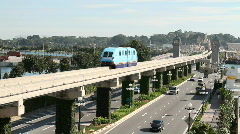 Singapore Monorail - stock footage