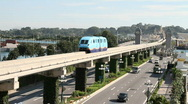 Stock Video Footage of Singapore Monorail