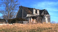 Timelapse of abandoned house Stock Footage