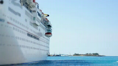 Cruise Ship Life Boats 1487 Stock Footage