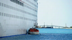 Cruise Ship Life Boats 1488 Stock Footage