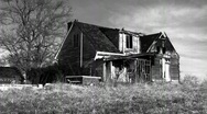 Stock Video Footage of timelapse of abandoned house (black and white)