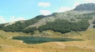 Rikavacko Lake on the mountain Komovi, Montenegro Stock Footage