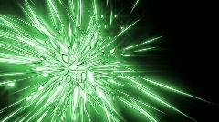 Cristal star green Stock Footage