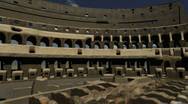 Colosseum Interior Stock Footage