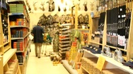 Man Shopping at Hunting Store Stock Footage