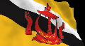 Flag B106 BRN Brunei HD Footage