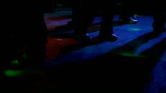 Feet on Dance Floor Stock Footage