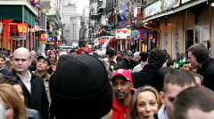Walking Through Mardi Gras Crowd - stock footage