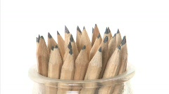 Spining pencils Stock Footage