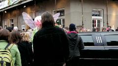 People dressed up on Bourbon Street - stock footage